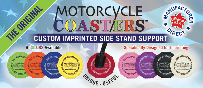 Motorcycle Coasters® Custom Imprinted Side Stand Support